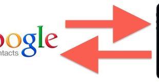 لیست تماس های گوگل