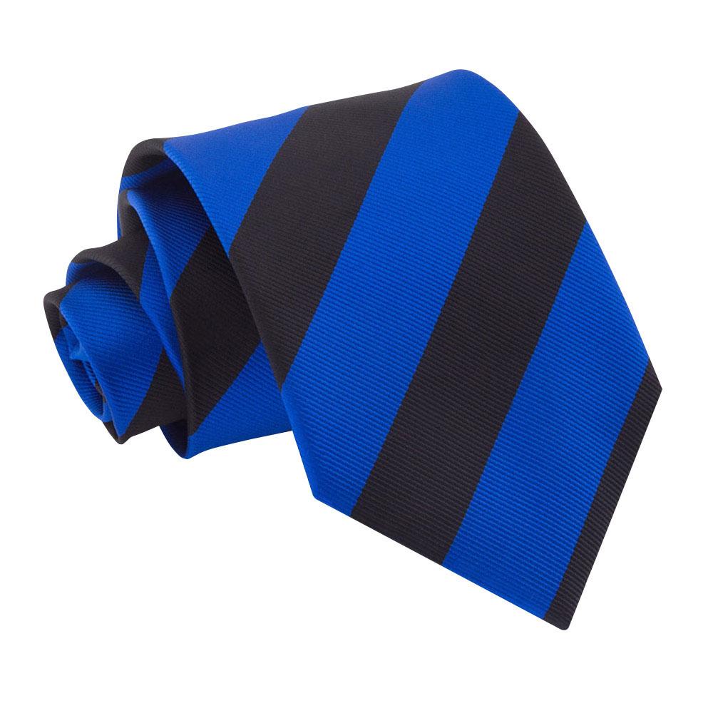 کروات رنگ آبی و تیره مورب